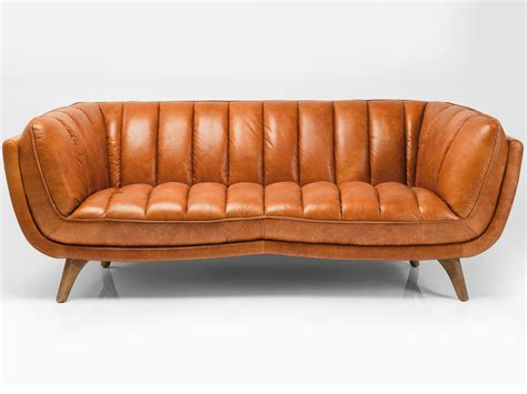 canapé cuir vintage 3 seater leather sofa bruno by kare design
