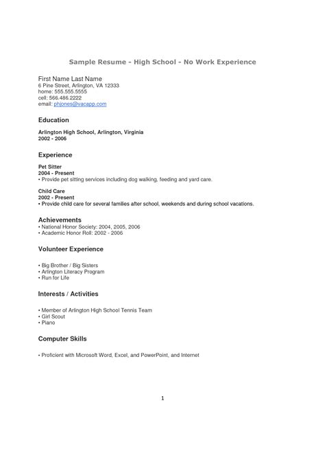 doc 5008 sle resume for high school graduate with