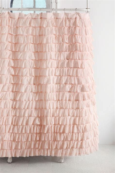 Feminine Shower Curtains by Waterfall Ruffle Shower Curtain