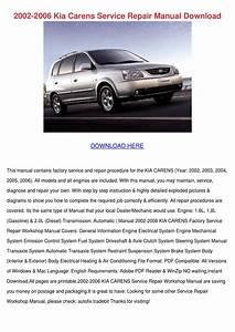 2002 2006 Kia Carens Service Repair Manual Do By