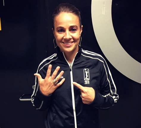 becky hammon celebrates wnbas san antonio spurs