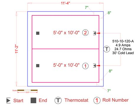 find your in floor heating system