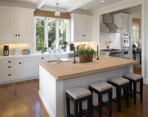 cocina blanca encimera madera veinticuatro disenos