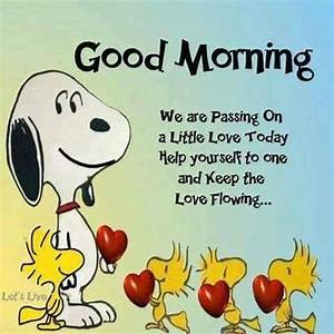 Good Morning Snoopy : good morning passing love snoopy quote pictures photos and images for facebook tumblr ~ Orissabook.com Haus und Dekorationen