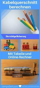 Spannungsabfall Kabel Berechnen : kabelquerschnitt berechnen mit tabelle und online rechner zu d nn spannung und kfz ~ Themetempest.com Abrechnung