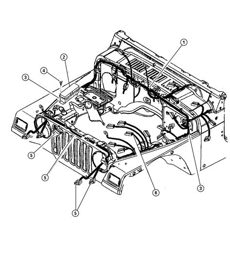 2000 jeep wrangler wiring headl dash panel