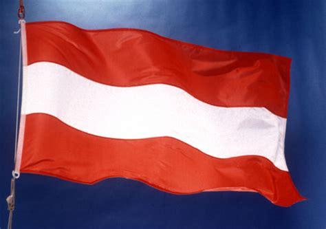vlag oostenrijk wapperend europa nu