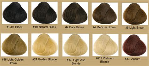 Black Hair Dye Types by Hair Color Chart Qlassy Hair Extensions