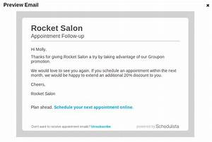 marketing online scheduling blog With customer follow up email template