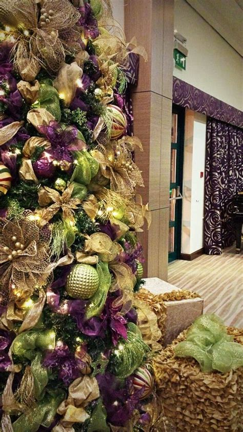 lime green  purple christmas trees  hire  lime