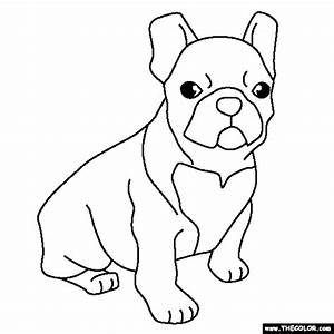 French Bulldog Puppy Coloring Page   Crafts ~ Digi Stamps ...