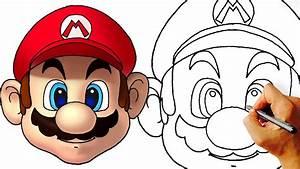 How to Draw Mario Head (Super Mario Characters) - YouTube