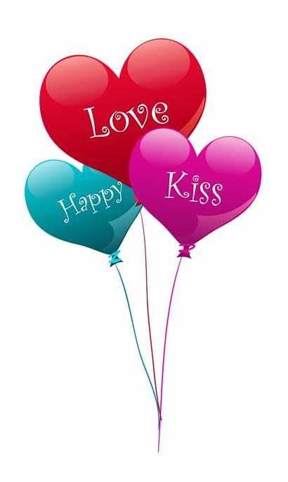 Heart Balloons Transparent Happy Clipart Kiss Balloon