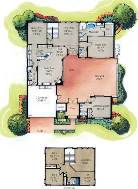 Courtyard Floor Plans by Home Plans With Courtyard Home Designs With Courtyard