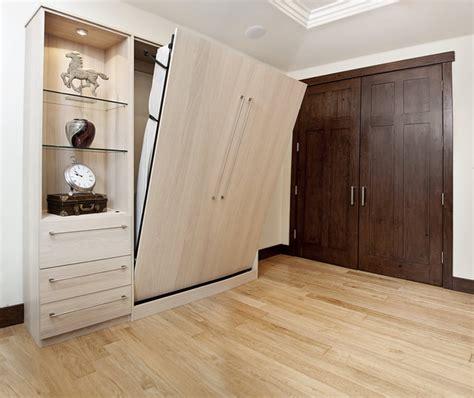 shinnoki milk oak wall bed and desk contemporary home
