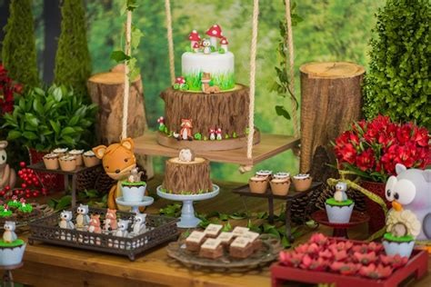 karas party ideas matteos enchanted forest birthday party
