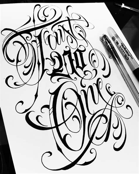 Trust no one #lettering #script #letters #design #tattoo #type #handstyle #sketch #typography #