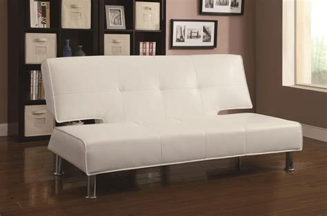 white leather sofa bed coaster 300296 white leather sofa bed steal a sofa