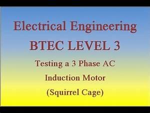 Ac Induction Motor  Winding Balance Test Of A 3 Phase Ac