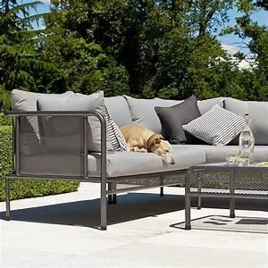 canape de jardin avec coussins haut de gamme en acier pour With tapis rouge avec canapé contemporain haut de gamme