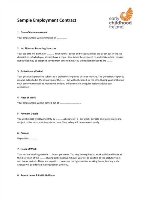 employee contract templates  docs word