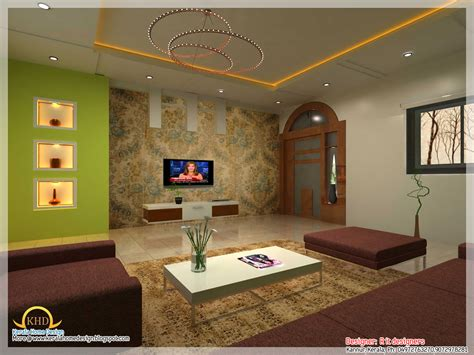 beautiful living room rendering kerala home design woody