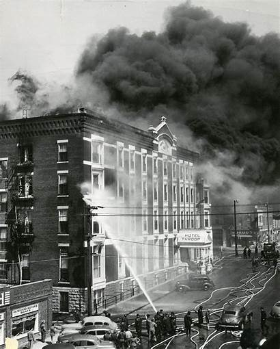 Topeka Ks Fire Downtown Historic History 1950