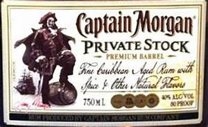 nv captain morgan private stock jamaica cellartracker With captain morgan label template