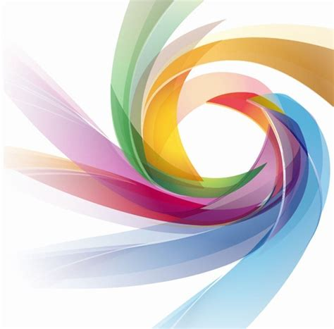 Colorful Abstract Swirl Wallpaper Free Vector Art