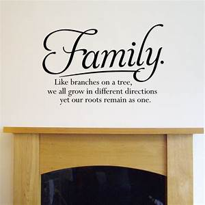 Wall quote sticker family like branches on a tree h k