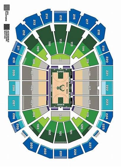 Seating Bucks Milwaukee Chart Map Nba Stadium