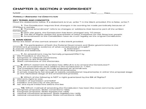 formally amending the constitution worksheet for 10th