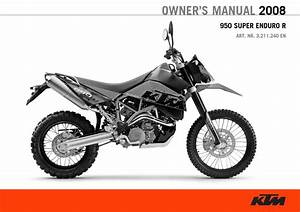 Ktm 950 Super Enduro 2008 Owner U2019s Manual