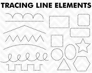 50% OFF SALE Clipart Tracing Elements Trace Lines Teacher Clip  Tracing