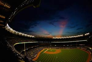 Night scene at Yankee Stadium in New York | Take Me Out to ...