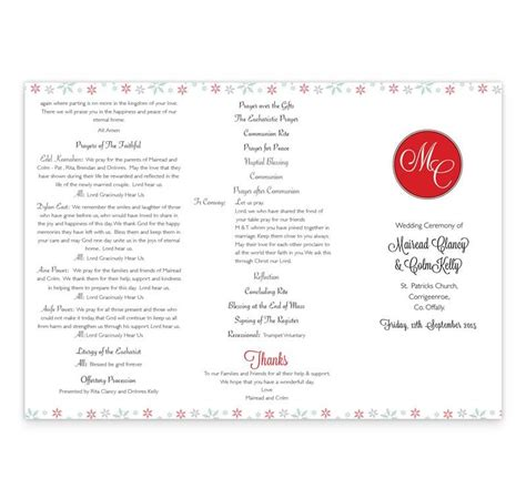 winter romance wedding ceremony booklet loving invitations