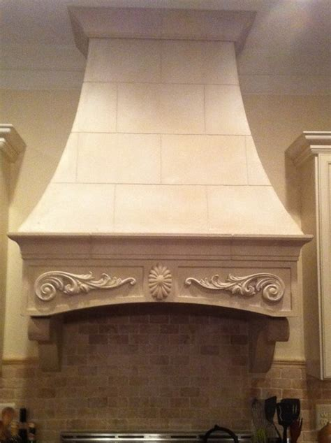 Cast stone range hood   Traditional   atlanta   by