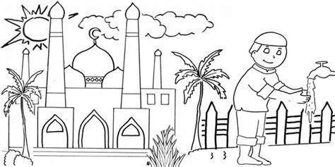 Bunga, binatang, pemandangan, buah, tersedia gratis untuk didownload. Sketsa mewarnai gambar masjid   Dunia Putra Putri