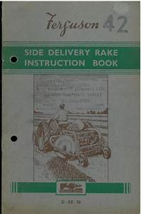 Ferguson Side Delivery Rake Operators Manual