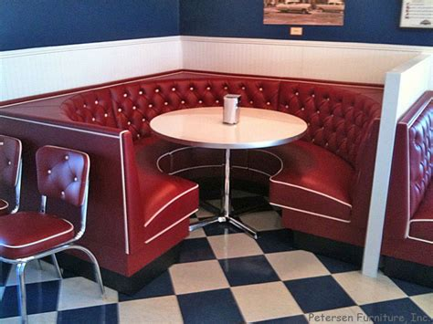 Diner Restaurant Booth 3/4 Circle