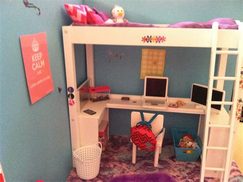 american bunk bed with desk american doll house bedroom my american