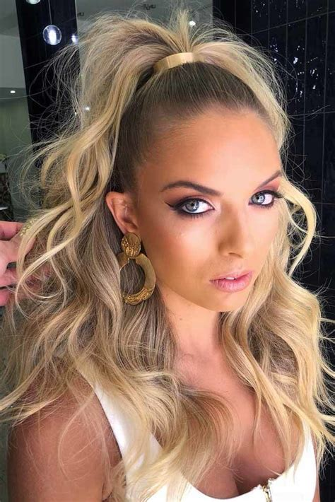 ponytail long hairstyles hair sporty half different updo ponytails