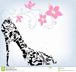 Royalty Free Stock Photos Fashion Women Shoes Vector ...