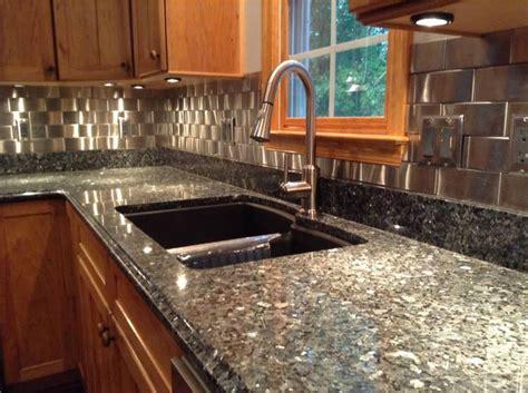 Stainless Mosaic Backsplash : Stainless Steel Kitchen Tiles Backsplash