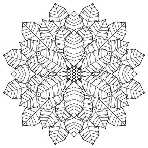 perfect geometric poinsettia flower drawing coloring page
