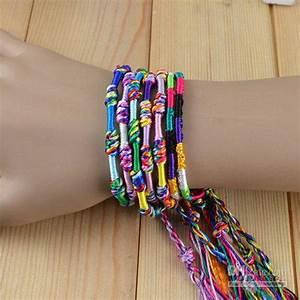 Weave Rope String Friendship Bracelets Handmade Charm