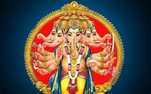 Panchmukhi Lord Ganesh HD wallpaper