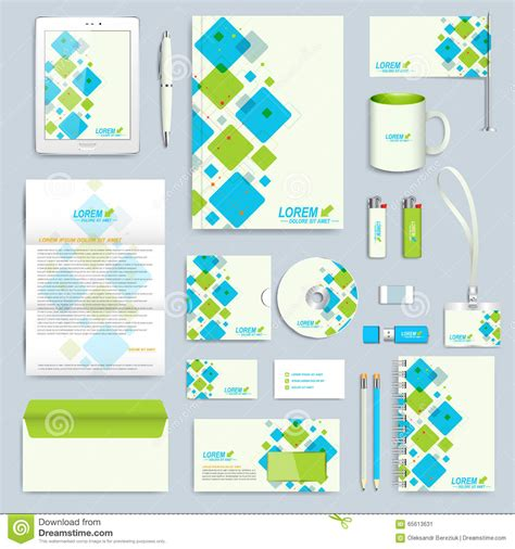 Set Of Vector Corporate Identity Template Modern Business
