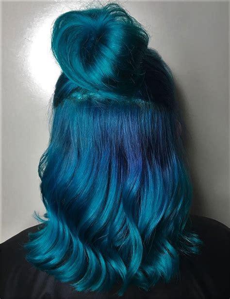 The 25 Best Blue Hair Ideas On Pinterest Dark Blue Hair