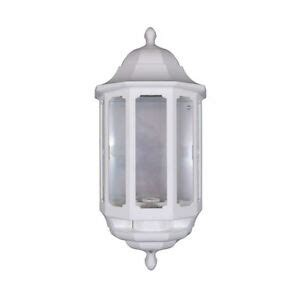 white asd half lantern outdoor outside wall light with dusk to photocell ebay